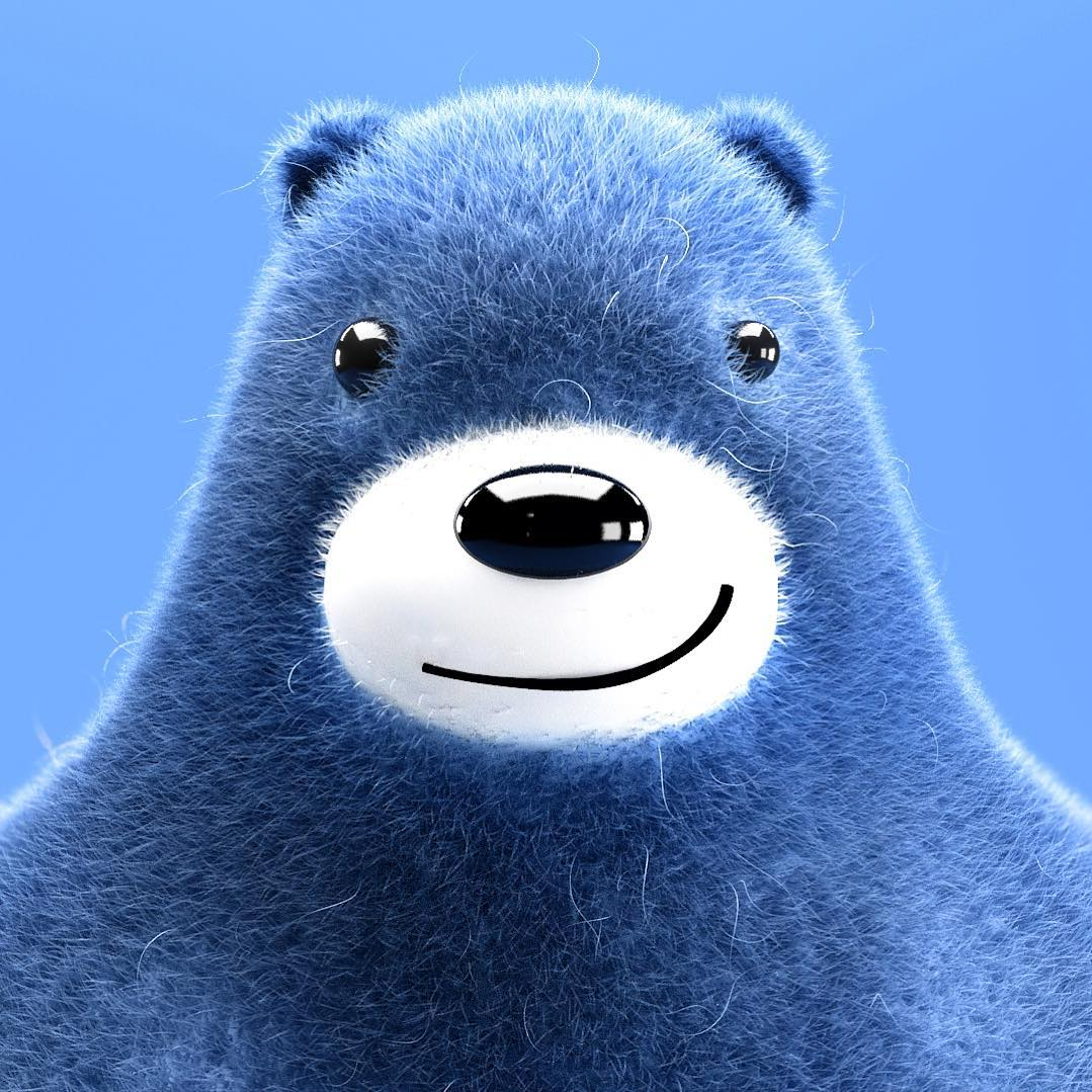 Blue bear!