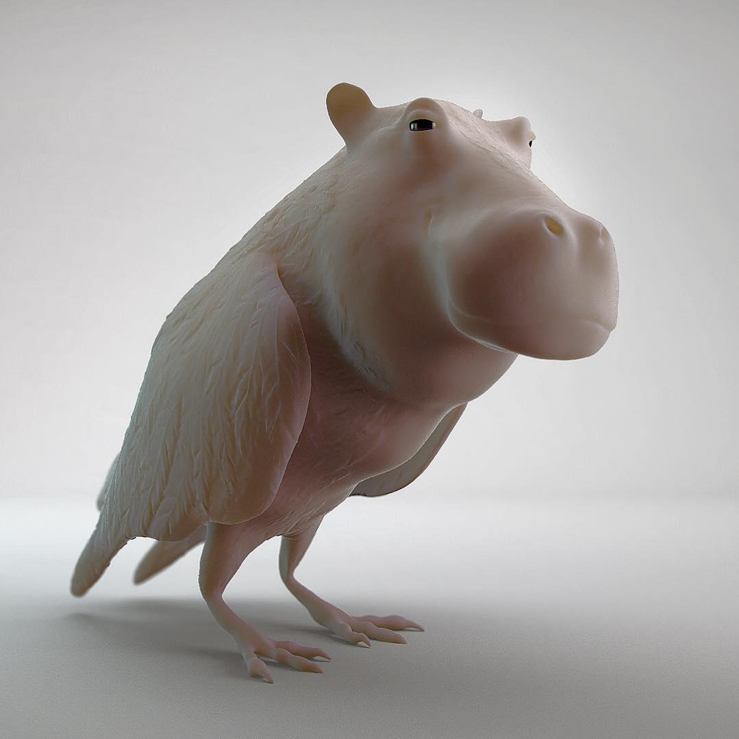 Hippopotamus + Parrot = Hiparot .