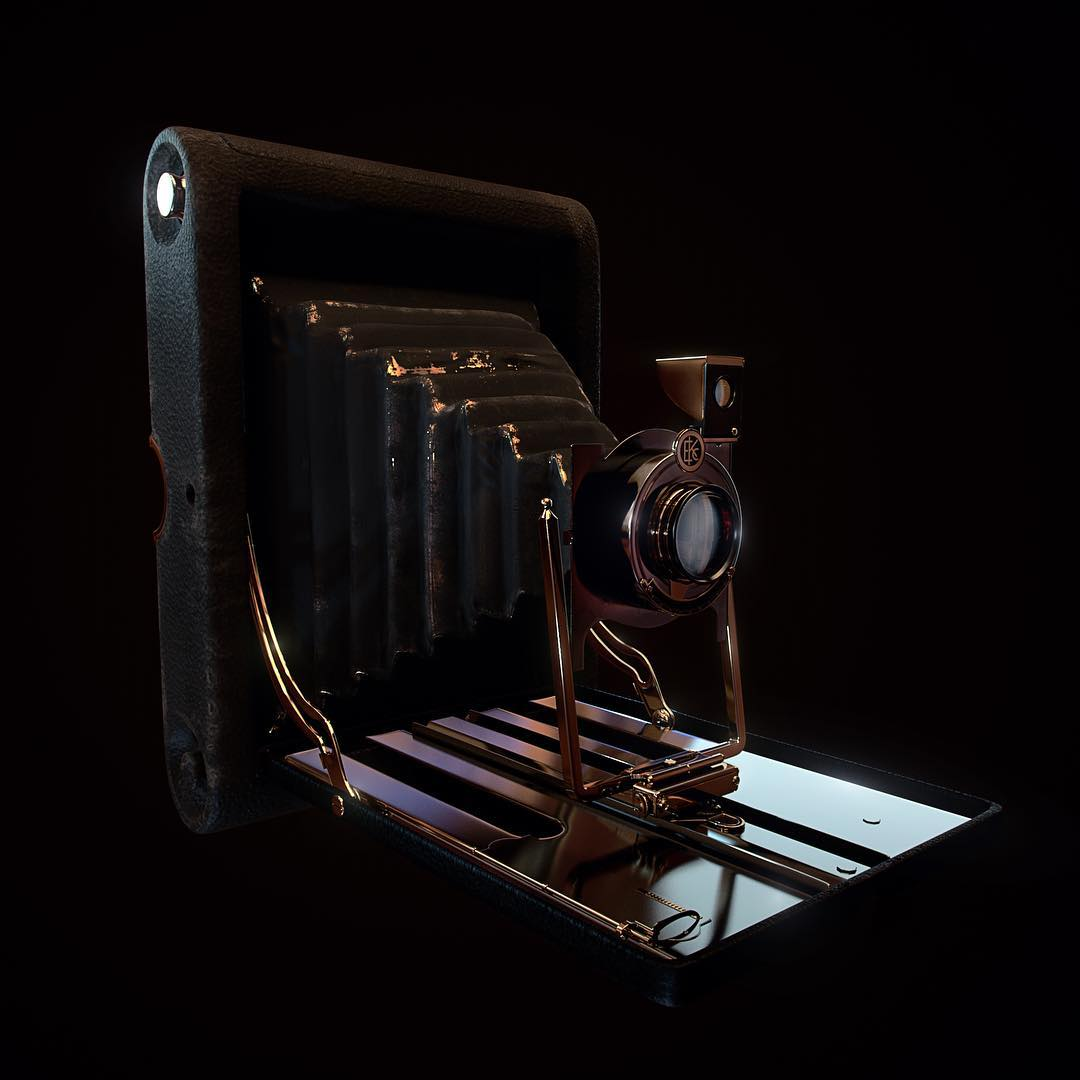 Check out this oldschool photocamera!