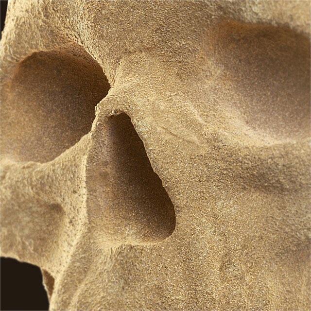 Sand skullpture shading test!