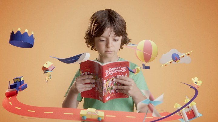 Our love for paper animation just keeps unfolding! Fun project we did a little while ago for @kinderboekenweek with @spektr_amsterdam